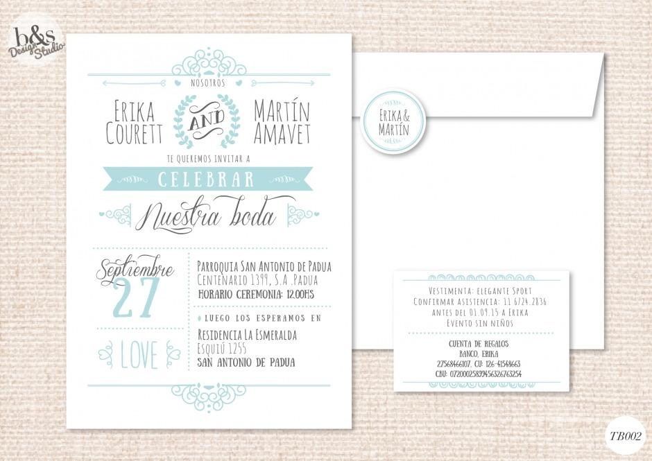 Invitación casamiento TB002