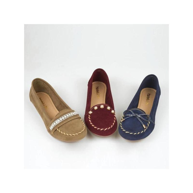 Flats multicolor con costuras  016567