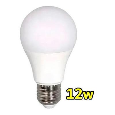 Lampara Led 12w E-27 1100 Lumens Calida Y Fria Luz Desing