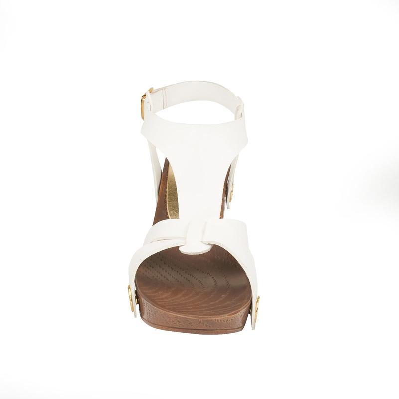Sandalia tacón blanca abertura 016794