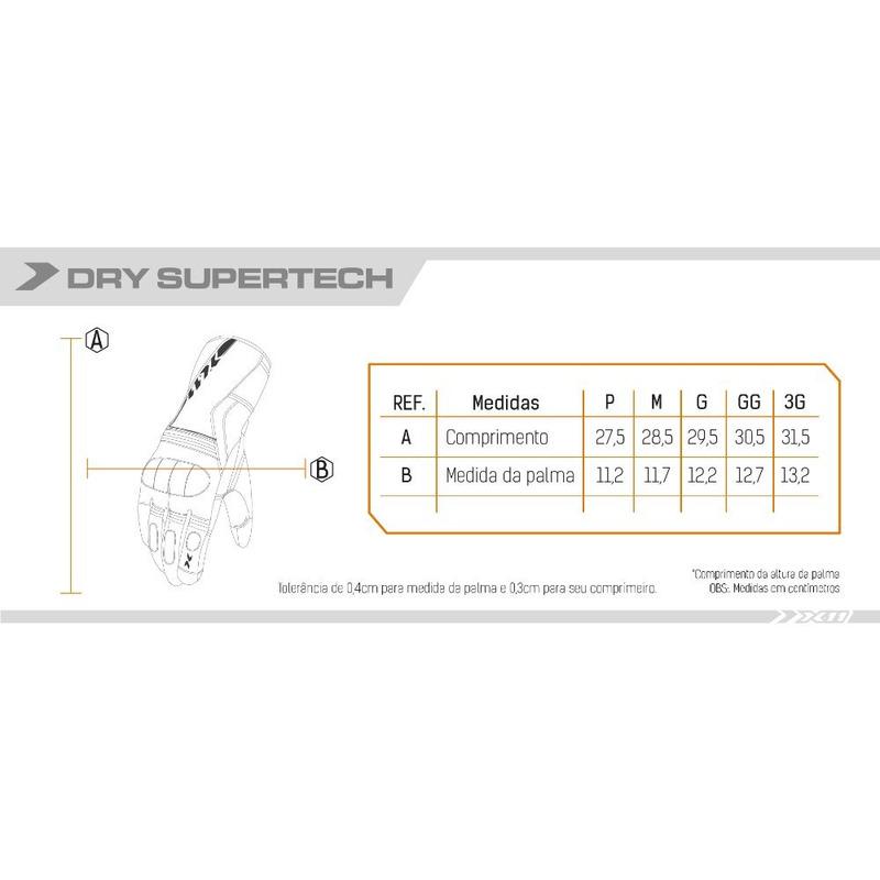 Luva X11 Dry Supertech Impermeável