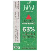 Chocolate Mineirinho 63% Cacau de Minas - 25g - Java