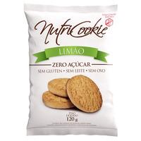 NutriCookie de Limao Zero Acucar Sem Gluten 120g NutriPleno