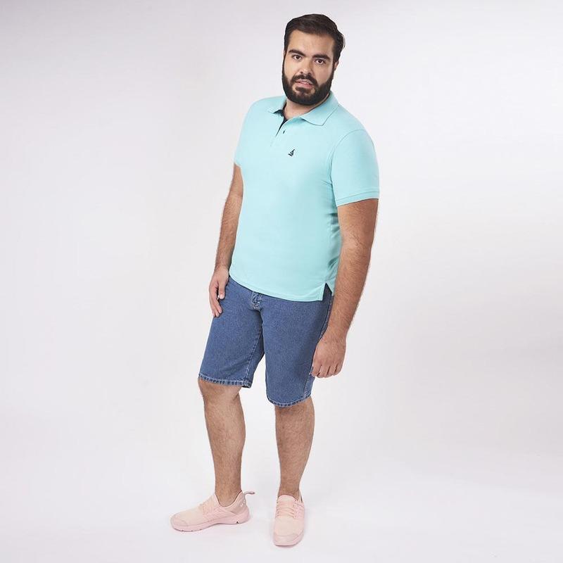 Camisa Azul Lisa 019487