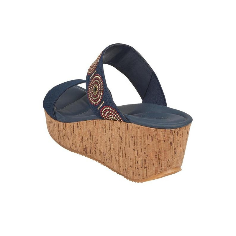 Sandalia plataforma azul  016710