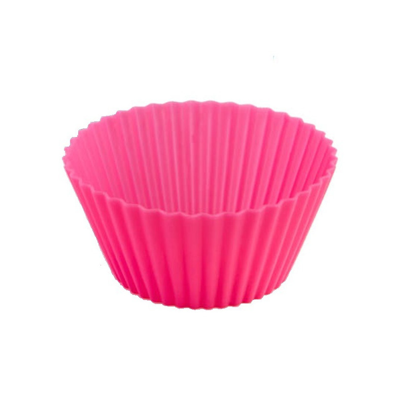 Pacote 6 Formas Silicone para Muffins e Cupcakes - Rosa Fosi