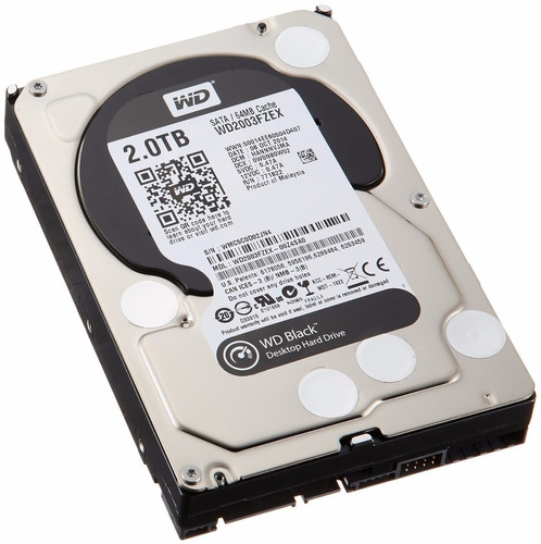 Disco 2tb Western Digital Caviar Black Sata 3 64 Mb Wd