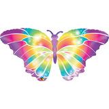 globo mariposa multicolor 110cm desinflado apto helio o aire