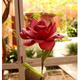 Rosa de papel satinado
