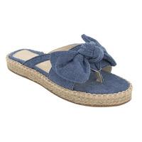 Sandalia De Piso Azul Mezclilla Con Moño 020132