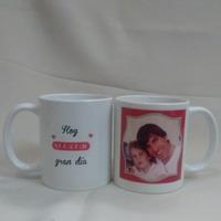 Taza de porcelana con foto