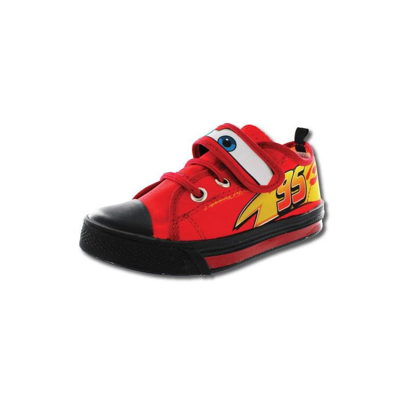 Sneakers Cars rojo y negro T88112
