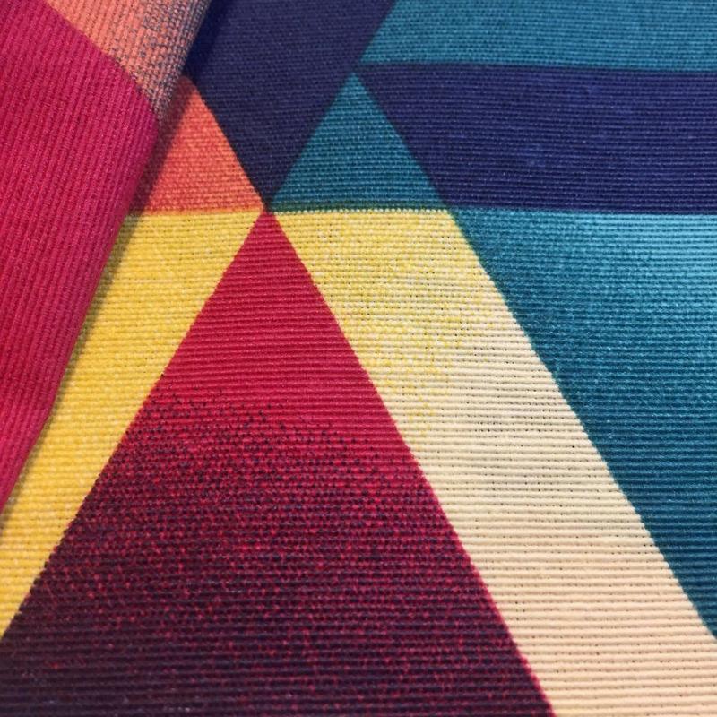 Tecido impermeável Acqua Soleil triângulos evolution colorido
