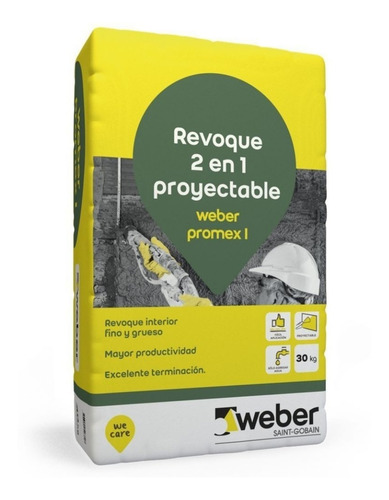Revoque Interior Proyectable Promex I 2 En 1 X 30kg Weber