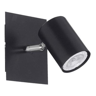 Aplique 1 Luz Recto Negro Cabezal Movil Deco Moderno Mks
