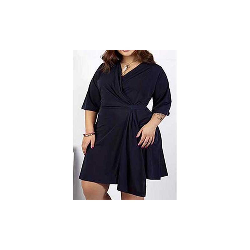 Vestido marino corto estampado 015405