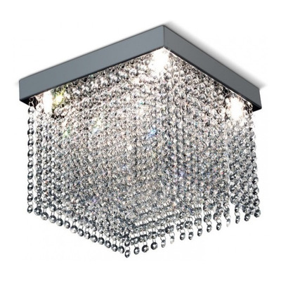 Lampara Plafon Drop Lluvia Cristal 5 Luces Led G597 05c Pal