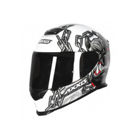 Capacete Axxis Eagle Bull Cyber Gloss Branco