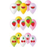 globo fruta 5 unid. surtidas desinflado apto helio