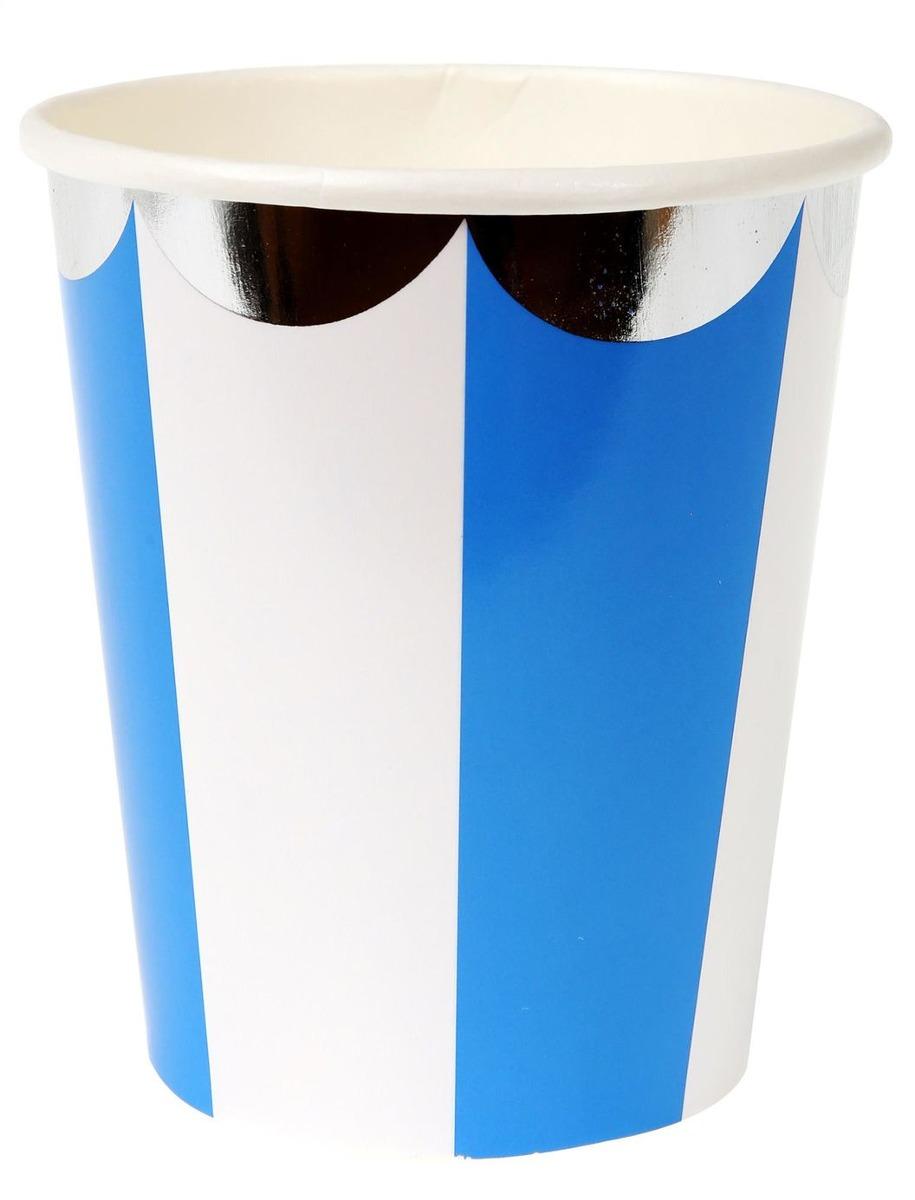 Vasos Stripe Azul