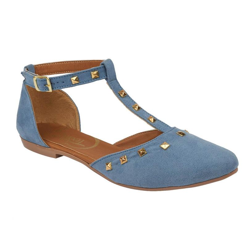 Flats azules estoperoles 017476