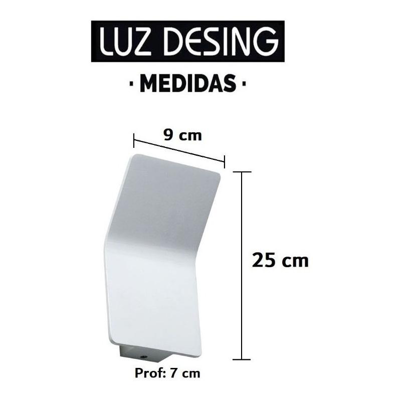 Aplique Pared Luz Led 5w Aluminio Deco Moderno Tz