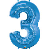 globo numero azul 1mts. desinflado apto helio o aire