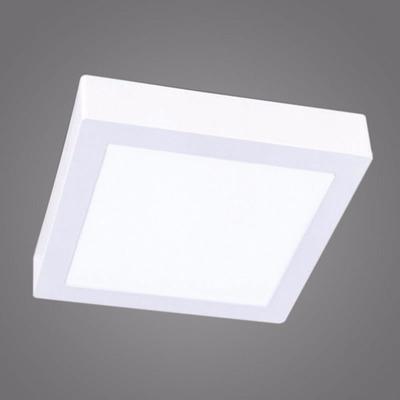 Plafon panel led cuadrado de aplicar 6w luz calida garantia ...
