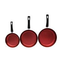Set de 3 Sartenes Mármol Color Rojo  1573146