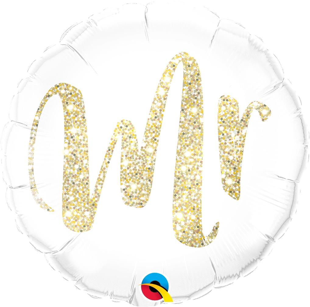 globo mr mrs casamiento x2u. 45cm desinflado apto helio
