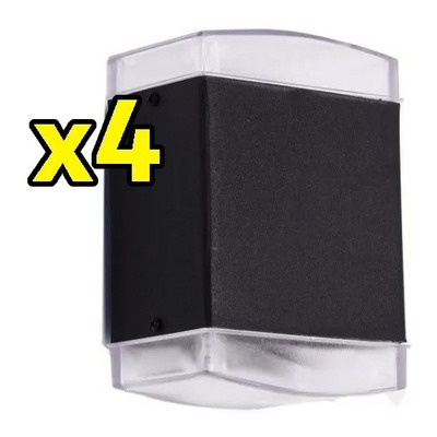 Pack X 4 Bidireccional Exterior Apto Led E-27 2 Luces Fz