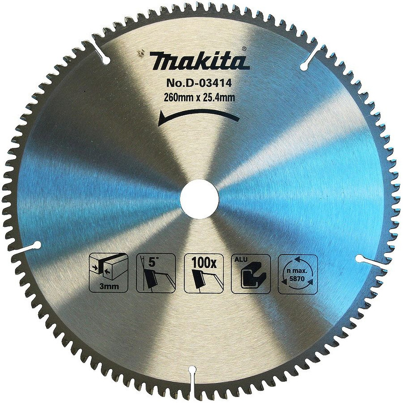 "Disco de Serra 260mm (10-1/4"") 100 Dentes - D-03414 - Makita"
