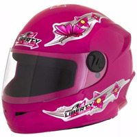 Capacete Pro Tork Liberty 4 Kids for Girls Feminino Infantil Rosa