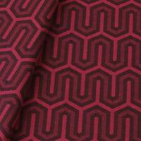 Tecido jacquard para almofada - cereja/marrom -  Impermeável - Coleção Panamá