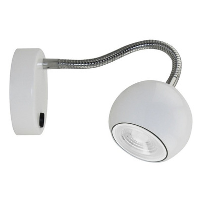 Aplique Venus Cabecera Blanco Flexible Moderno Led Gu10 Cie