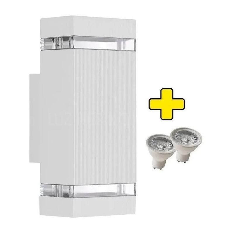 Bidireccional Aluminio Con 2 Led Gu10 Exterior Frentes