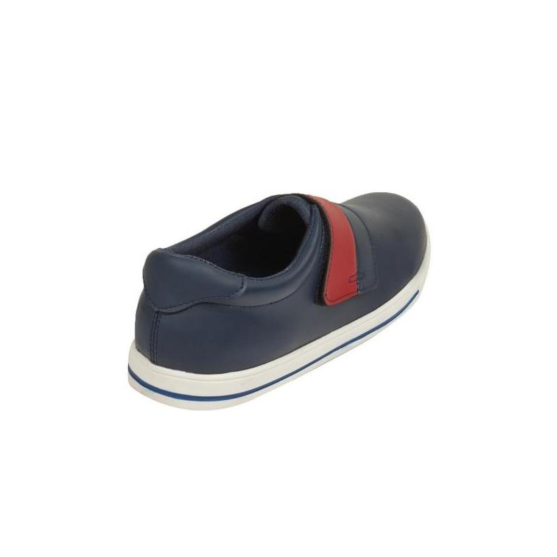 Sneakers azules franja roja  018818