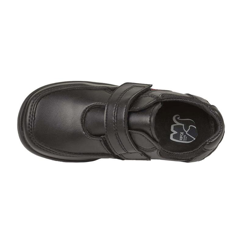 Mocasín negro con costuras 008768