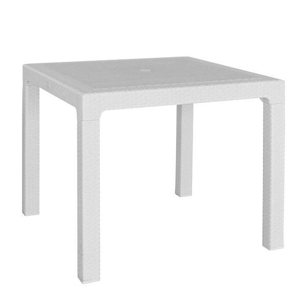 Mesa Harmony Blanca/Negra Cuadrada Simil Ratan de 0.90mts...