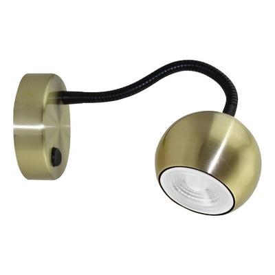 Aplique Venus Cabecera Oro Flexible Moderno Apto Led Gu10