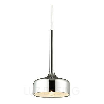 Colgante 1 Luz Cromo Ginebra Apto Led Deco Moderno