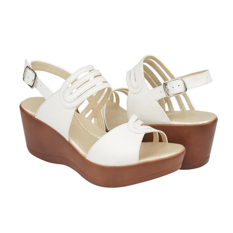 Sandalia plataforma blanca con pulseras 016734