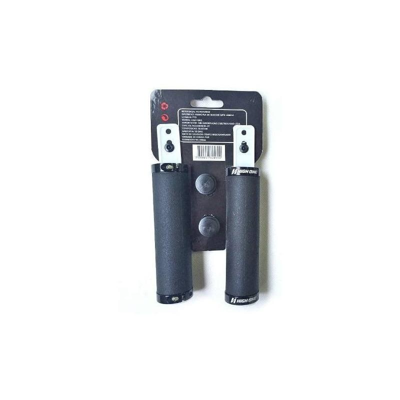 MANOPLA DE SILICONE HIGH ONE MTB 130MM C/TRAVA PRETO