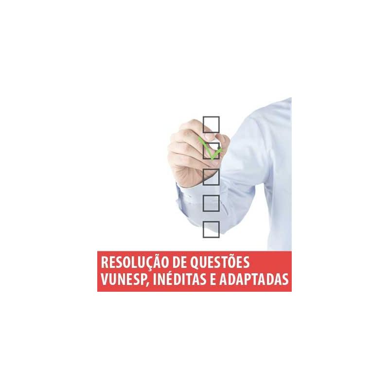 Curso Matemática Resolução de Questões Vunesp, Inéditas e Adaptadas