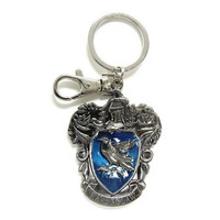 Chaveiro Casa Corvinal Monogram - Harry Potter Ravenclaw Crest Pewter Keyring