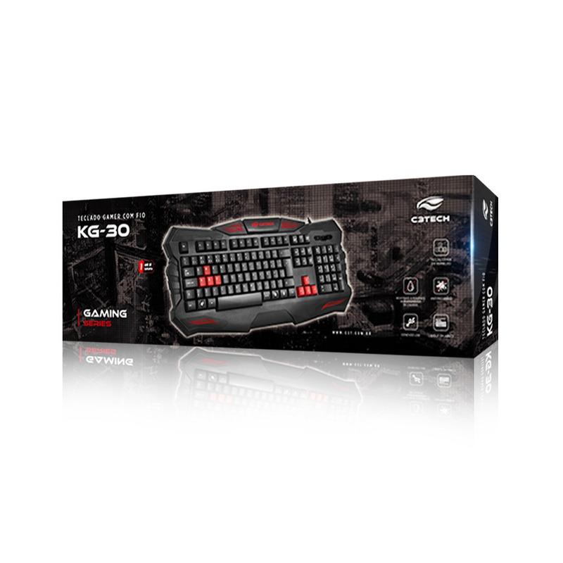 TECLADO GAME USB C3TECH KG-30BK PRETO