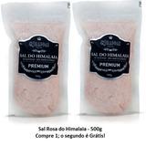 Kit com 2 Sal Rosa do Himalaia Moido 500g - El Shaddai Gourmet