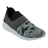Sneakers Grises Con Camuflaje 017602
