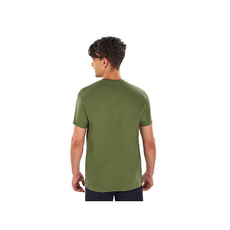 Camisa estampada olivo manga corta 014633