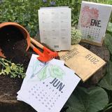 Calendario Plantable 2019 - papel reciclado con semillas